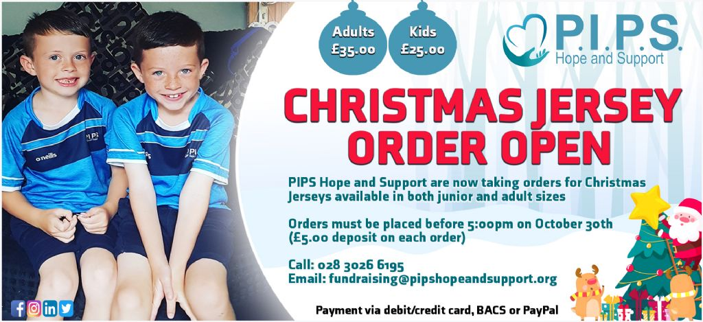 PIPS Hope and Support - Jersey Order for Christmas