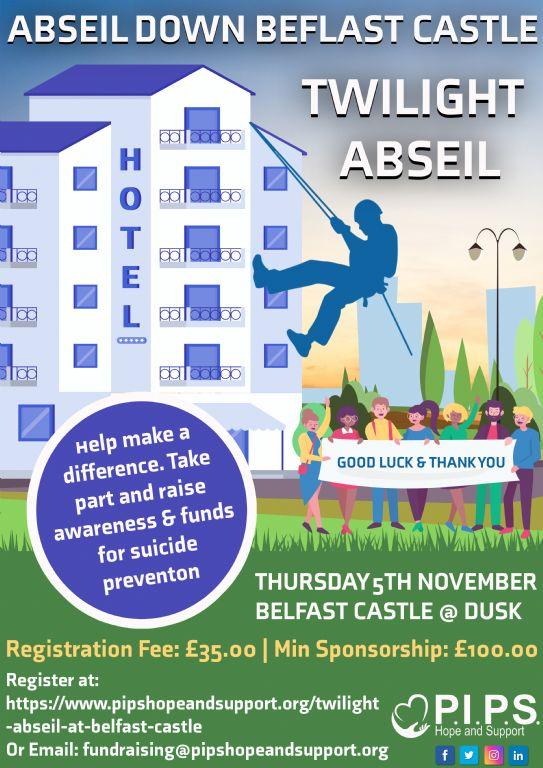 Twilight Abseil at Belfast Castle